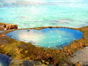 奄美大島のハート岩/ハートロック「ハート型の穴が開いた岩」