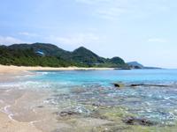 奄美大島のハート岩/ハートロック - ビラビーチの奥にあります