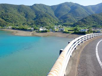奄美大島の久根津大橋/スカイブリッジ「古仁屋から曽津高崎方面へ行く途中にある」