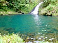 奄美大島のマテリヤの滝 - 滝壺はかなり大きい