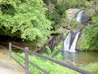 奄美大島のアランガチの滝 - 滝を見るための広場有り