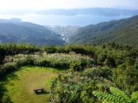 奄美大島の高知山展望台 - 展望台の麓に広場もあります