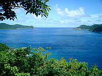 奄美大島のマネン崎展望台 - 加計呂麻との間の大島海峡が一望