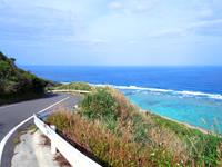望楼台先の海