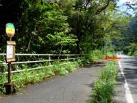 奄美大島のタンギョの滝入口 - 豪雨の影響で岩だらけになってしまった