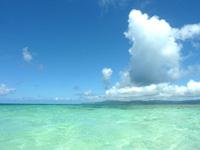 南の浜/下地側の浜の海