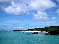 新城島の上地島北岸の写真