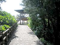 中部の屋慶名海峡展望台/藪地島展望台