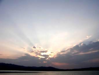 久米奥武島の奥武島からの夕日