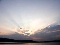 久米奥武島「奥武島からの夕日」