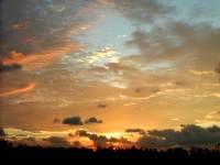 久米奥武島の奥武島からの朝日の写真