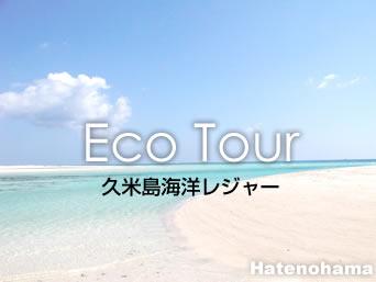 はての浜の【イーフ発はての浜観光・グラスボート】久米島海洋レジャー