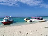 はての浜のナカノ浜船着き場 - 多くの船が停泊します