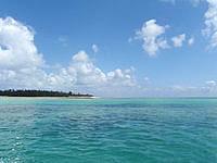 はての浜のはての浜へ行く途中の海 - 港を出た直後の奥武島沖