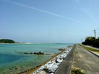 奥武島の海峡の海