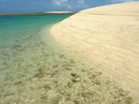久米奥武島のオーハと奥武の間の岬の写真