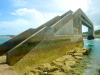 久米奥武島のシールガチ橋 - 海上にあるけど意外とキレイ