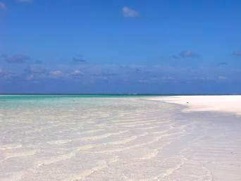 はての浜のナカノ浜とメーヌ浜の海峡