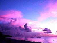 ニシ浜の夕焼け