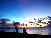 波照間島のニシ浜の夕焼け - 夕焼け終了間近