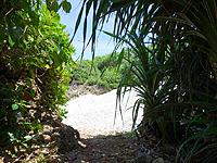 波照間島の毛ビーチ/珊瑚の殻ビーチ/サンゴの浜 - 入口はここ!