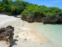 波照間島の毛ビーチ/珊瑚の殻ビーチ/サンゴの浜 - プライベートビーチです
