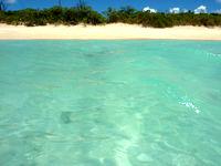 波照間島のペー浜の海の色 - ペー浜では是非沖まで歩いてみよう