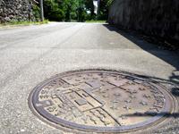 波照間島の日本最南端のマンホール - まさに最南端の島のマンホール