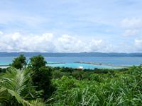 鳩間島の鳩間島物見台 - 物見台から島の南側を望む