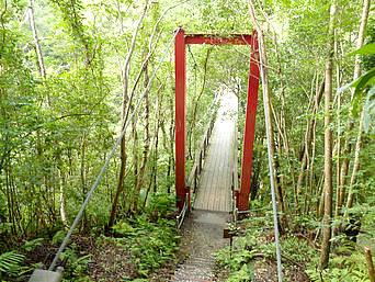 比地川つり橋