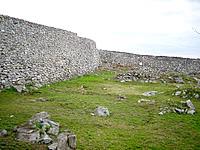 北部の今帰仁城跡 - 城壁の曲線がとてもキレイ