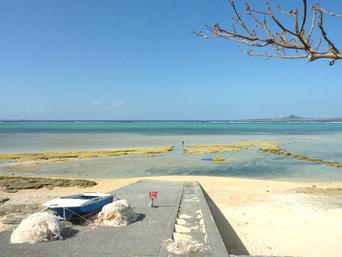 備瀬のビーチ