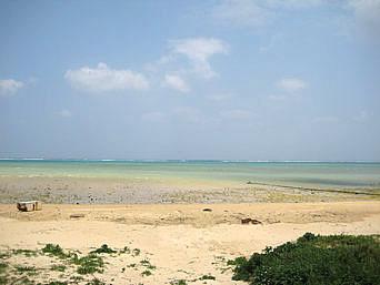 具志堅のビーチ