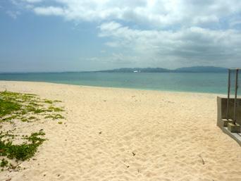 伊江島の伊江ビーチ北「旅行村内のビーチと変わらずキレイです」