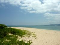 伊江島の伊江ビーチ北 - 居心地はかなりいいビーチ