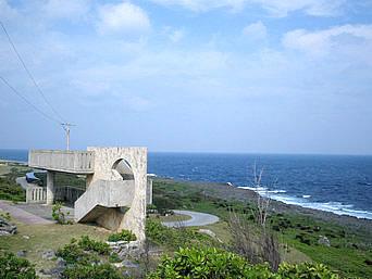 伊江島のリリーフィールド公園外の展望台