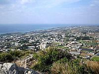 伊江島の城山からの景色