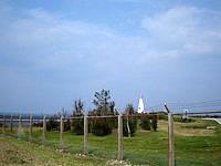 伊江島の伊江島灯台 - もろ米軍施設内にある灯台