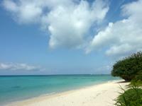 伊江島のGIビーチ西 - 意外と人がほとんど居ません