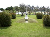 伊江島のアーニーパイルの碑