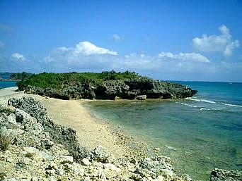 アマミチュー近くの海