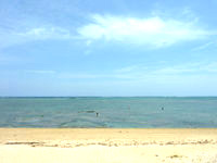 石油基地横の海