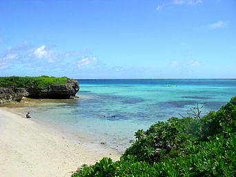 池間島の池間ブロック/フナクスビーチ「こぢんまりしたビーチですが泳ぐにはいい感じ」