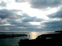 池間島の夕日スポット/池間島西海岸