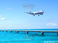 下地島の下地島空港17エンドベストショット - 合成ですが新規就航便だとこんな雰囲気