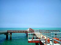 下地島の下地島空港17エンド/誘導桟橋 - 桟橋は立ち入り禁止です
