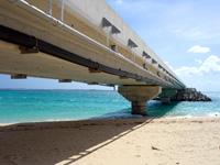 伊良部島の長山浜/長山の浜 - 伊良部大橋下もビーチ