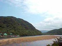 八重山列島 西表島の浦内川観光/浦内川河口/船着き場の写真
