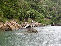 西表島の浦内川軍艦岩 - 浦内川上流の船着き場