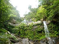 西表島のゲーダの滝2段目/3段目